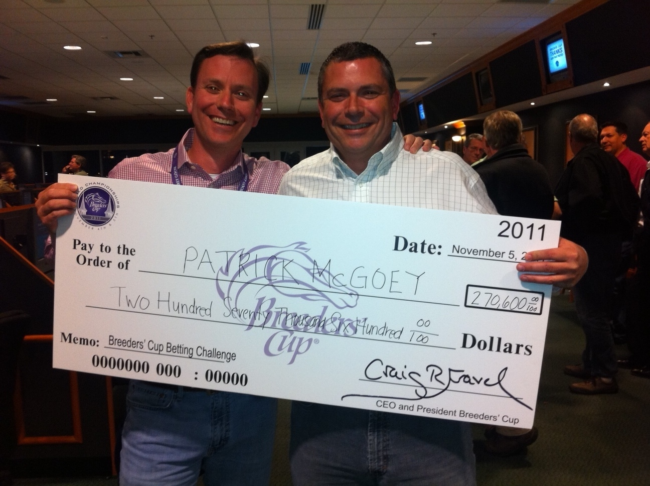 Interview With 2011 Breeders Cup Betting Challenge Winner