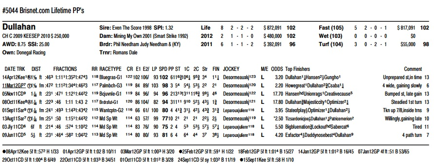PPs for KY Derby contender Dullahan