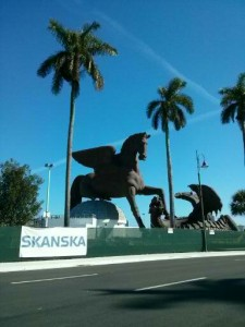 Pegasus statue at Gulfstream Park