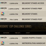 Belmont Week TV Schedule
