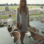 young attractive British racegoer