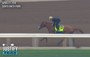 Derby144 workout Justify at Santa Anita