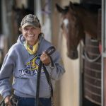 Virginia Peters runs a one-woman horse racing operation at Canterbury Park