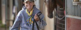 Virginia Peters runs a one-woman horse racing operation at Canterbury Park