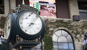 Keeneland clock racing
